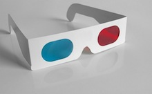 Cardboard cyan/red glasses (photo by Flickr user xenmate)