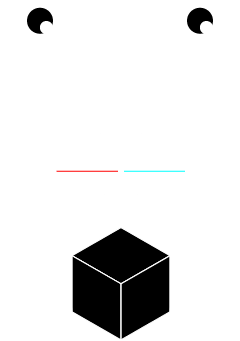 A basic diagram of the principle behind anaglyph images